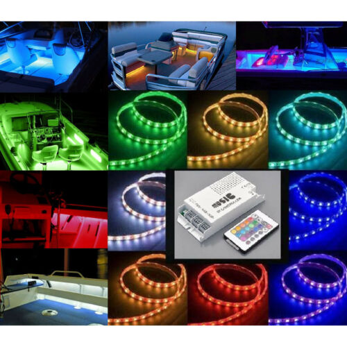 12V LED Color Changing Marine Party Boat Boating Yacht Light Bulb Beats To Music