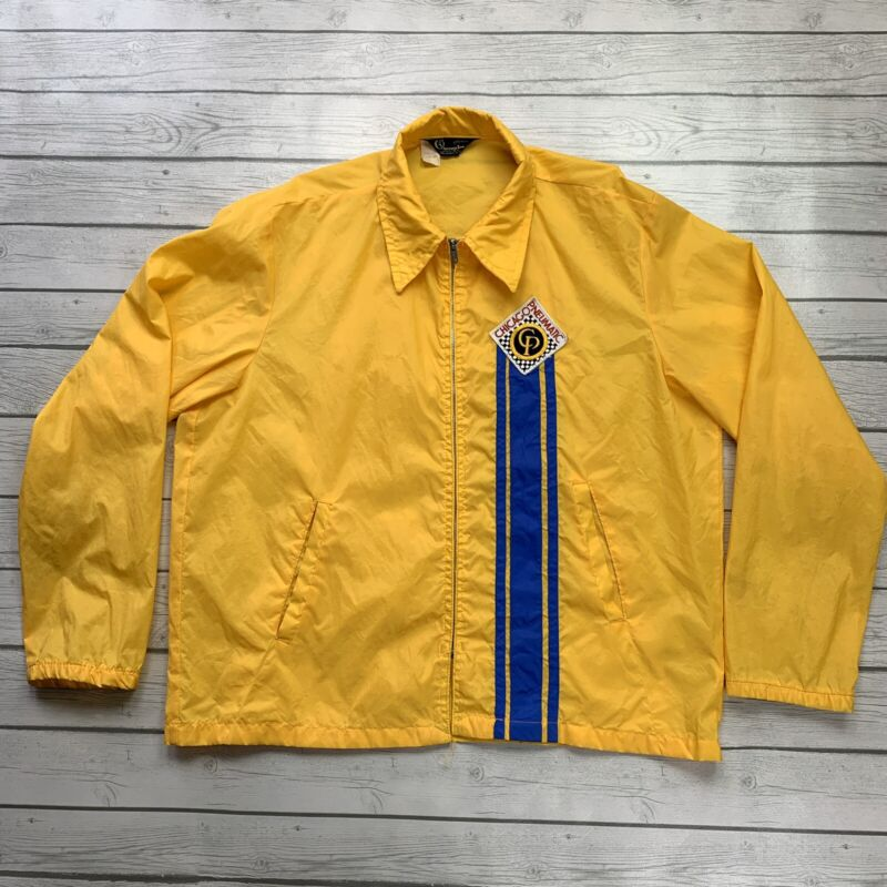 VTG Champion Chicago Pneumatic XL Yellow Snap Front Windbreaker - Rochester USA