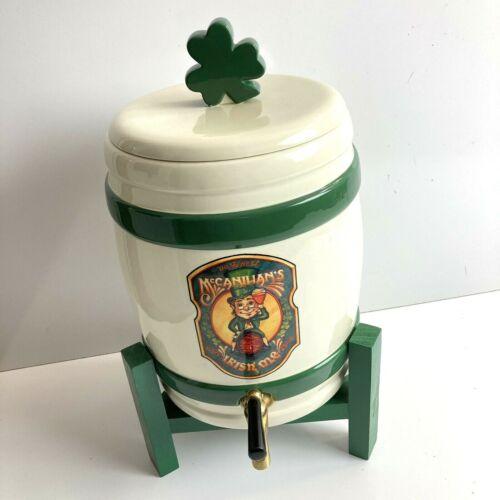 Retired Dept 56 Irish Cheer McCannihan's Irish Ale Keg w/ Stand 13.75in 56.23388