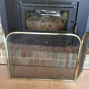 Brass fireplace screen Teringie Adelaide Hills Preview