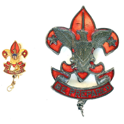 1918 Boy Scouts Assistant Scoutmaster Medals - Pins Badges Insignias STUNNING