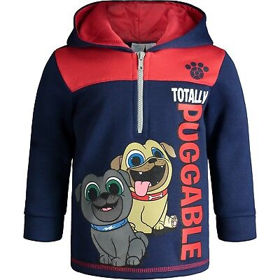 - Disney Puppy Dog Pals Toddler Boys' Half-Zip Pullover Fleece Hoodie, Navy