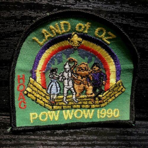 Wizard of OZ Cloth Patch Boy Scouts Pow Wow 1990 Land of OZ