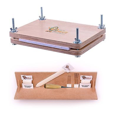 Bookbinding Super Deluxe Starter Kit - with A4 Punching Cradle and Book Press Deluxe Starter-kit