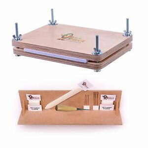 Bookbinding Super Deluxe Starter Kit - with A4 Punching Cradle and Book Press
