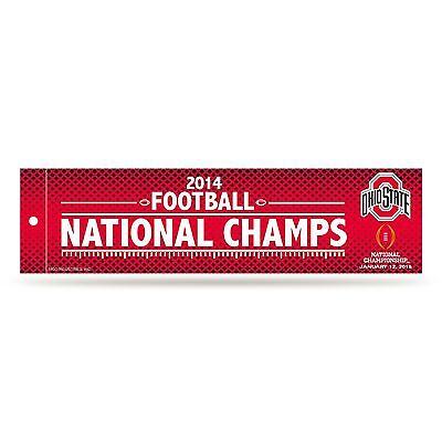 Ohio State Buckeyes Official 2015 NCAA National Champions Bumper Sticker - Ncaa Ohio State Buckeyes Bumper
