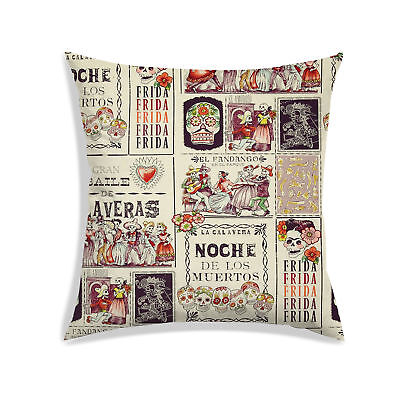 Halloween Cushion Cover Soft Satin Beige Sofa Couch Indoor Pillow Case Décor - Halloween Couch Cover