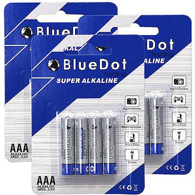NEW FREE SHIP (12 PACK) AAA TRIPLE A HEAVY DUTY BATTERIES BlueDot Alkaline 1.5V