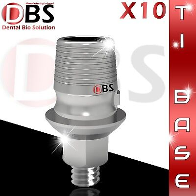 10x Cadcam Ti-base Interface For Dental Implant External Hex Sirona Compatible