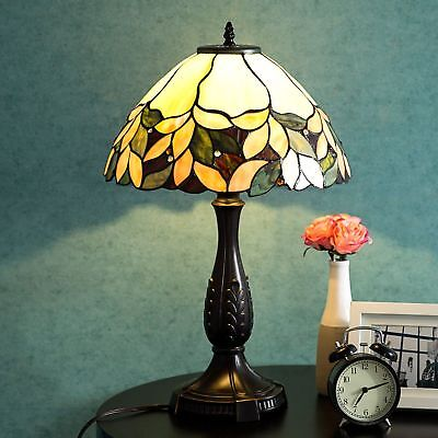 Tiffany Style Lamp Victorian Stained Crystal Desk Lamp Floral Home Decor Lighting