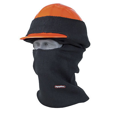 Refrigiwear Double Layer Long Neck Industrial Hard Hat Balaclava Face Mask Black