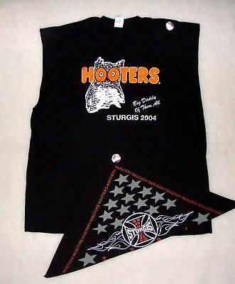 HOOTERS T-SHIRT XXL BANDANNA STURGIS uniform biker show holiday costume pirate