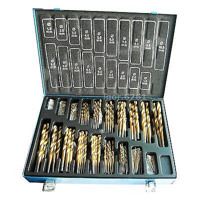 Spiralbohrer HSS TiN 170-er Set Bohrer 1-10mm Metallbohrer Set DIN338