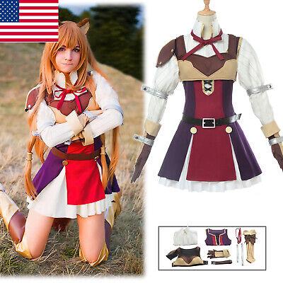 Anime The Rising of the Shield Hero Raphtalia Cosplay Costume Women Dress (The Shield Costume)