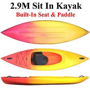 Long weekend sale best value Sit in Kayak 2.9M with seat and padd Riverwood Canterbury Area Preview