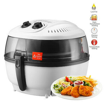 7L White Electric Air Fryer Oil-Less Griller Roaster Timer Temperature Control