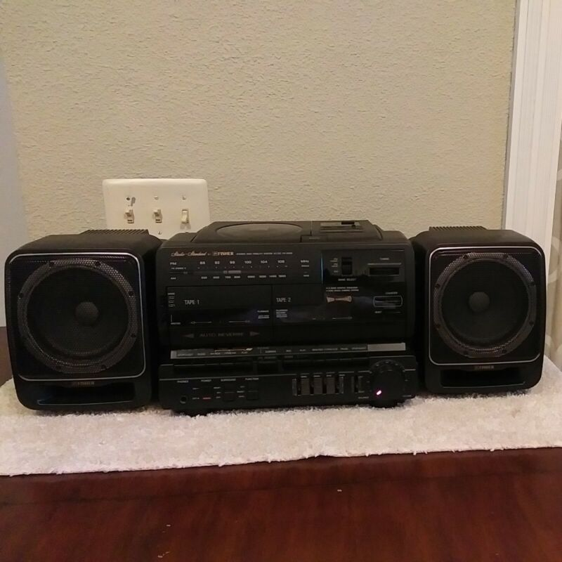 FISHER PH-D800 Boombox Stereo/CD/ Dual Cassette/AC/DC Power supply. Please Read!