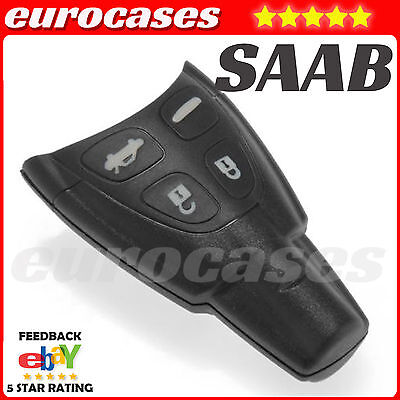 SAAB4 Replacement 4 button fob case for SAAB 93 95 9-3 9-5 REMOTE KEY shell