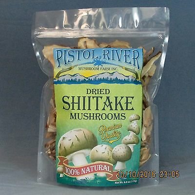 Shiitake Mushrooms Sliced-Dried First Quality 6oz FREE SHIPPING