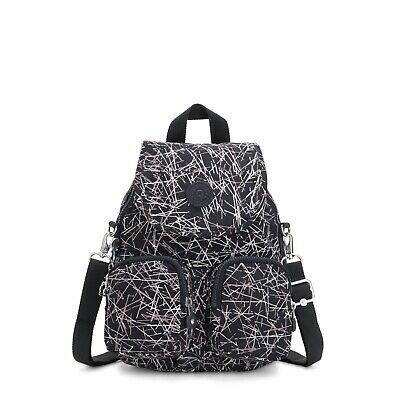 Kipling Small Backpack Shoulder Bag Firefly UP NAVY STICK PRINT HOL19  RRP £93