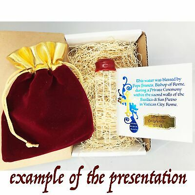 Gold Series Holy Water Limited Edition 25mL Cork Vial Pope Francis Blessed  - $36.47