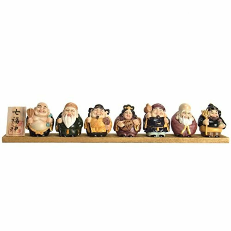 Good Luck Item Japanese Seven Lucky Gods 7 Ornaments w/Tracking# New from Japan