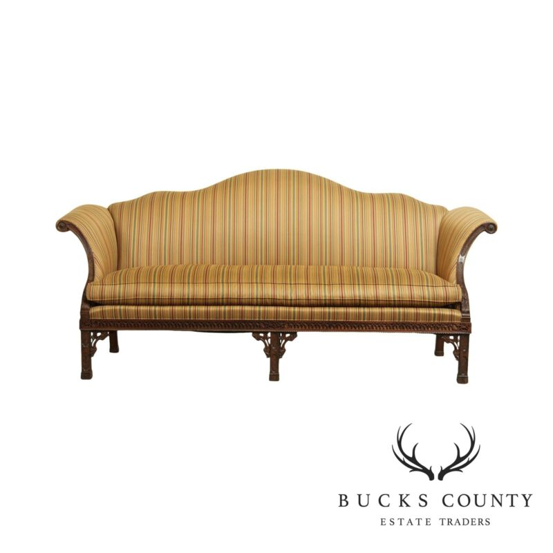 Hickory Chair James River Westover Plantation Mahogany Camelback Sofa