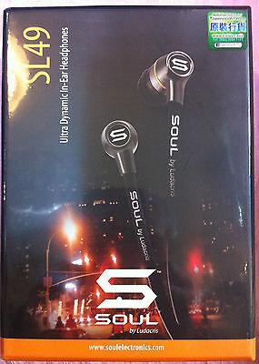 Intellect by Ludacris SL49 In-Ear Earphone Headset (Black) For Apple iPod iPhone New
