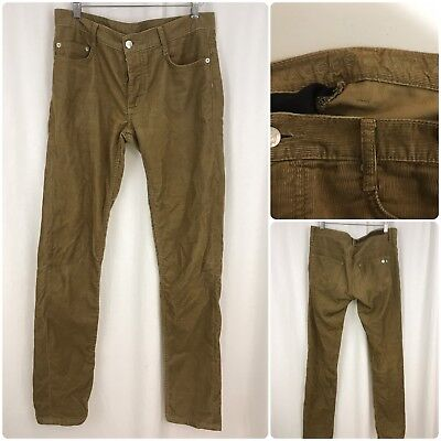 MARC JACOBS Men Body Corduroy Cotton Pants Sz 30