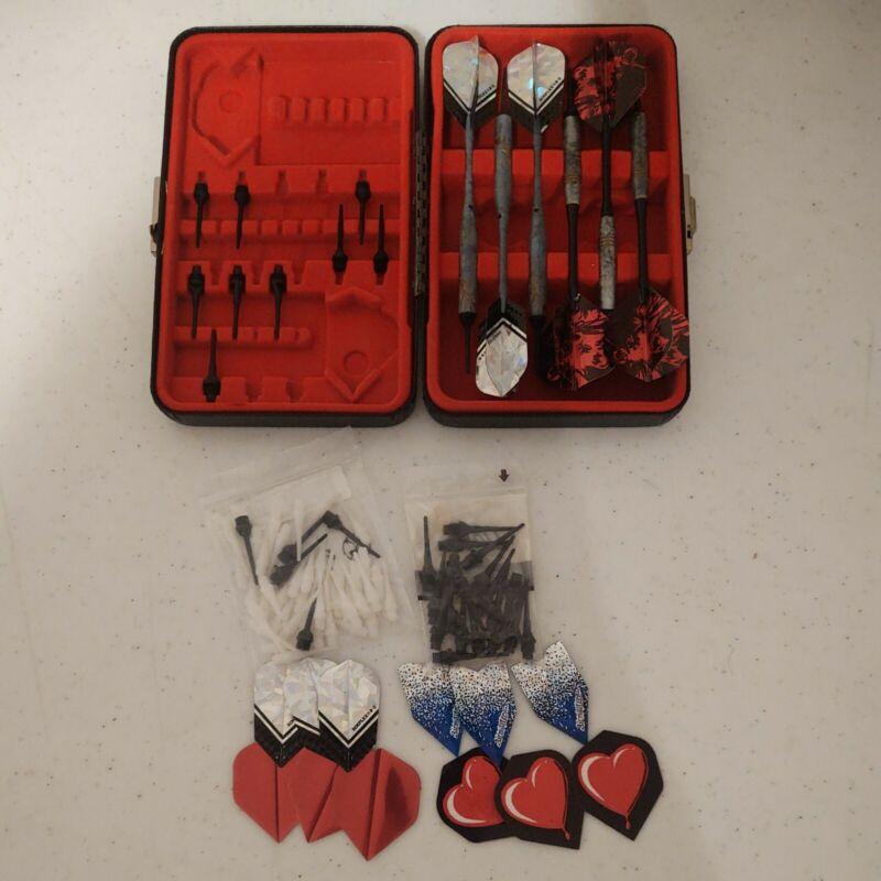 The Dart Vault Case Loaded W/ Soft Tip Darts (2 sets of 3) + Extra Tips/Flights