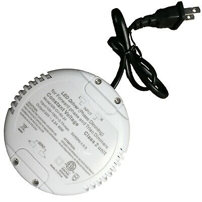 24v Dimmable Triac Power Supply 60w 2.5a Driver For Led Light Clearance As-is
