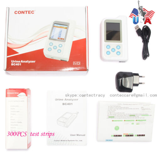 USA Portable Urine Analyzer Color LCD 11 Parameters,800pcs test strips,USB,FDA,