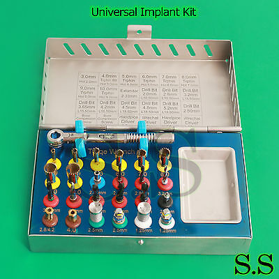 25 Pieces Universal Implant Kit Basic Dental Instruments