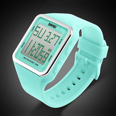 Fashion SKMEI Girl Square Quartz Waterproof Date Women Digital Sport Wrist Watch