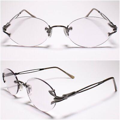 Womens Light Tinted Lens Oval Gunmetal Rimless 2.00 Reading Glasses - MODEL2162 Oval Womens Light