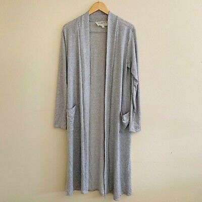 Hiatus Nordstrom Women's Long Cardigan Duster Large Heather Grey Pockets