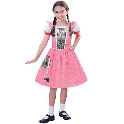 Spider Web Little Miss Muffet Book Week Day Pink Girls Kids Fancy Dress - Little Miss Muffet Costume Kids