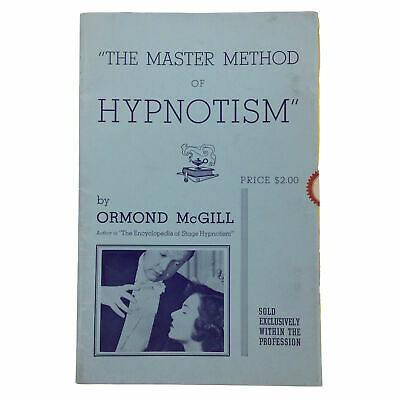 The Master Method of Hypnotism, Ormond McGill 1950s Illustrated SEALED Booklet