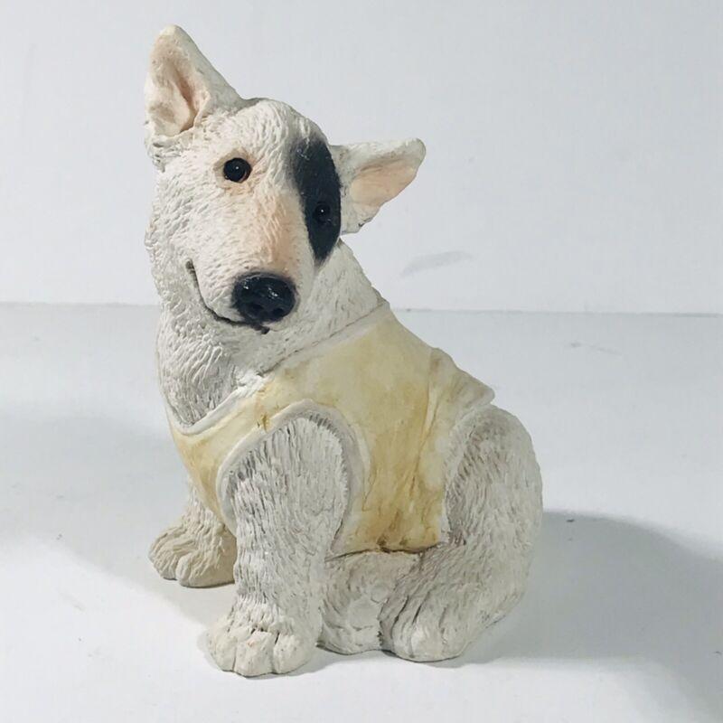 "Stone Critter Bull Terrier w/ Shirt Figurine SC-240 United Design Corp 3.75"""