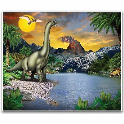 Dinosaur Scene Setter (DINOSAUR INSTA MURAL SCENE SETTER PARTY WALL DECORATION BANNER JURASSIC)