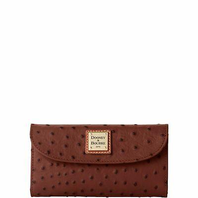 Dooney & Bourke Ostrich Continental Clutch Wallet