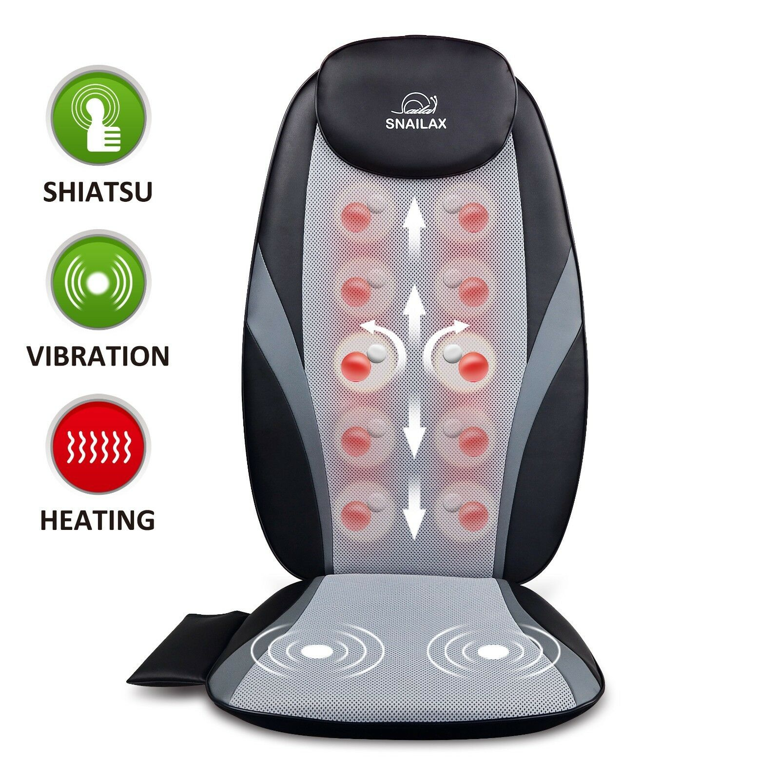 【Snailax Official Shop】Shiatsu Back Massager with Heat M