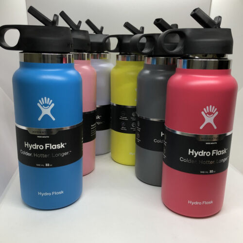 Hydro Flask 32Oz Water Bottle with Straw Lid, Wide Mouth, 2.0 New Design