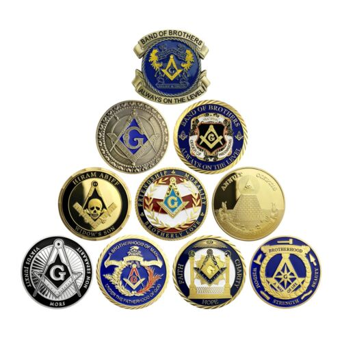 Masonic Challenge Coin Lot Entered Apprentice Fellow Craft Master Mason Emblem