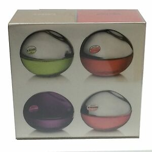 DKNY Be Delicious Womens Miniature Mini Travel Perfume Set of 4x 7ml