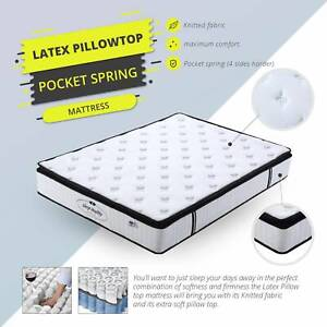 Brand New Latex Pillow Top Mattress Double Queen King Size Available
