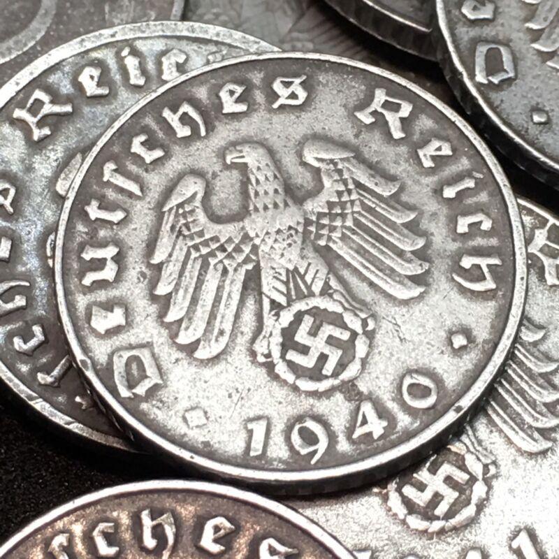 Rare WW2 Nazi 5 Reichspfennig Zinc Swastika Coin Buy 3 Get 1 Free