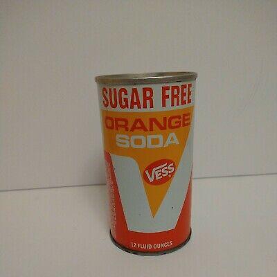 Vintage Vess Sugar Free Orange Soda Pop Can 12oz Straight Steel St Louis MO