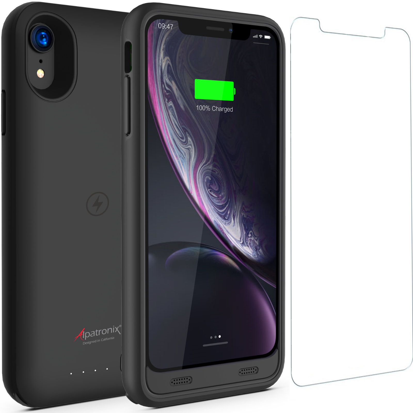 iPhone XR Battery Case with Qi Wireless Charging Compatible,