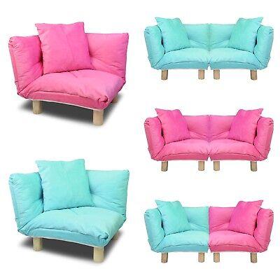 Corner Kid Sofa Children Furniture Floor Chair Lounge Cushion W/ Cushion